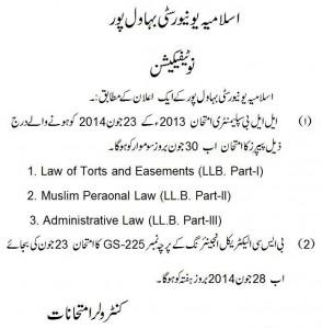LLB change schedule 2014 Notice
