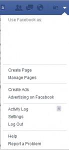 face book setting