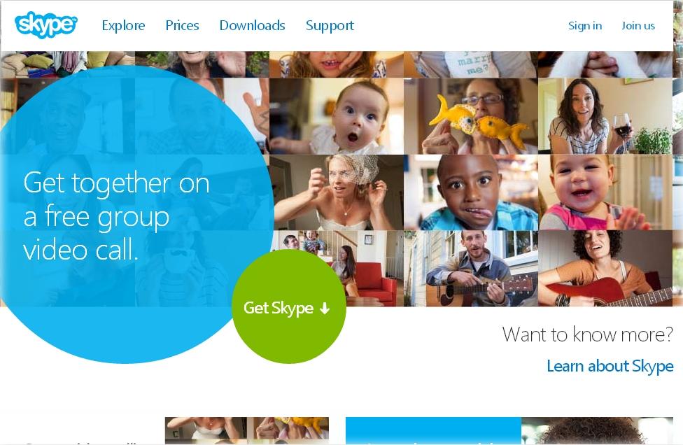 offical skype site address link
