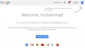 gmail account creating is now completed