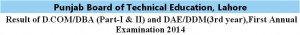 DCom DBA result 2014 Online