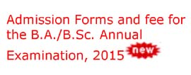 Fee Schedule For The B.A./B.Sc. Annual Examination 2015
