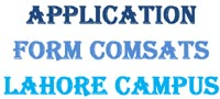 Scholarship Application Form Download Lahore Campus COMSATS