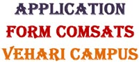 Download Scholarship Application Form COMSATS Vehari Campus