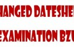 B.A./B.Sc. Supplementary Examination 2014 New Datesheet Schedule BZU