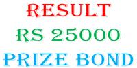 National Savings Prize Bond RS25000 Draw Full List