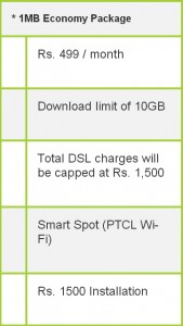 ptcl economy package
