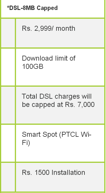 dsl packages 8mb
