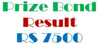 Prize Bond Draw List Download Rs 7500 National Savings