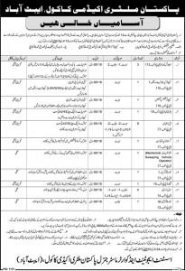pakistan military academy kakul jobs