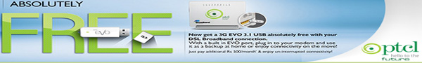 PTCL EVO DSL BroadBand Customers USB Package Information